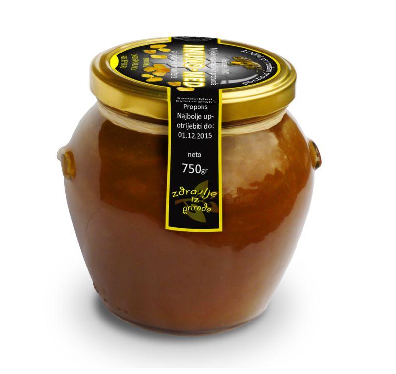 Imunomed je mješavina tri vrste meda, cvjetnog praha i propolisa za podizanje imuniteta i borbu protiv prehlada